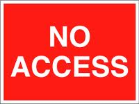 no access sign