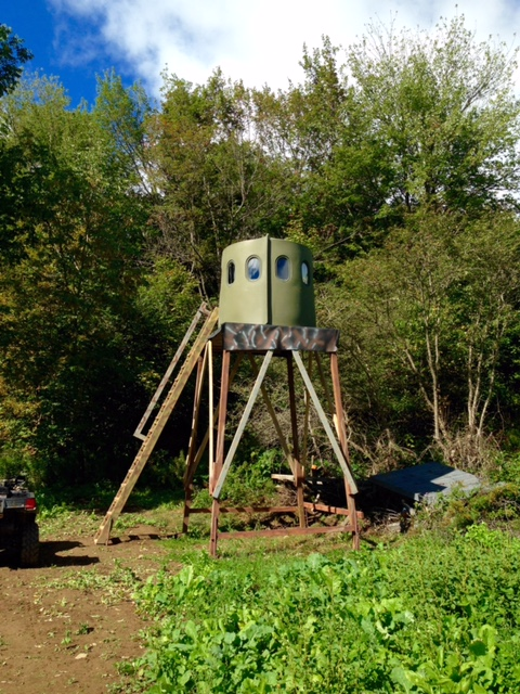 in your hunting zoom and touch elevating booner assembled maverick deer base blinds floor to round accessories circumference mounts tower completely for nex upright blind platform with level shown
